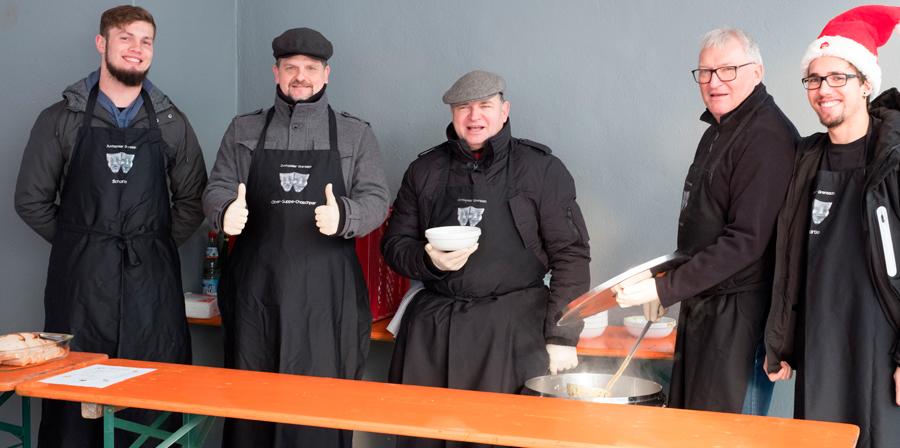 Suppenverkauf am Weihnachtsmarkt